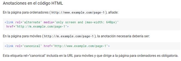 Anotaciones en el código HTML
