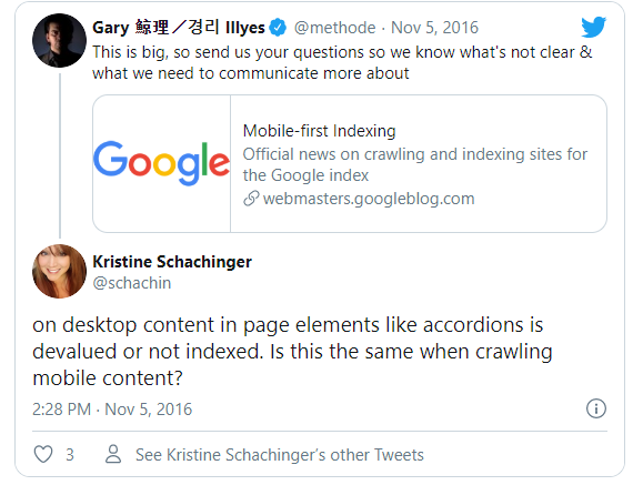 "https://twitter.com/methode ""no, in the mobile-first world content hidden for ux should have full weight"""