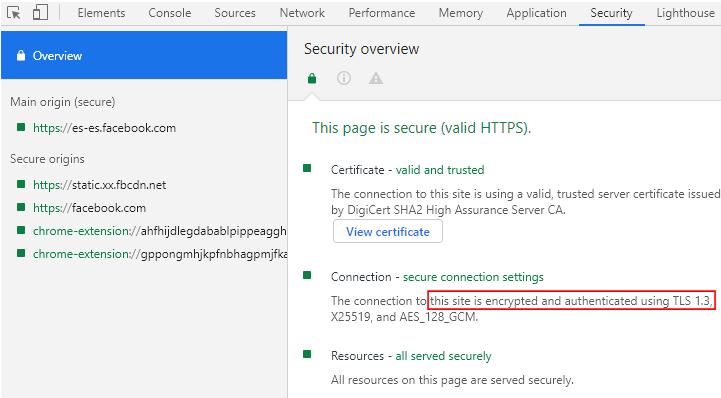 Seguridad Chrome Facebook