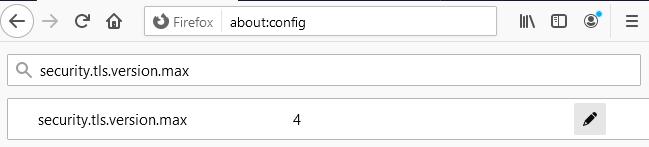 Configuración TLS 1.3 en mozilla firefox