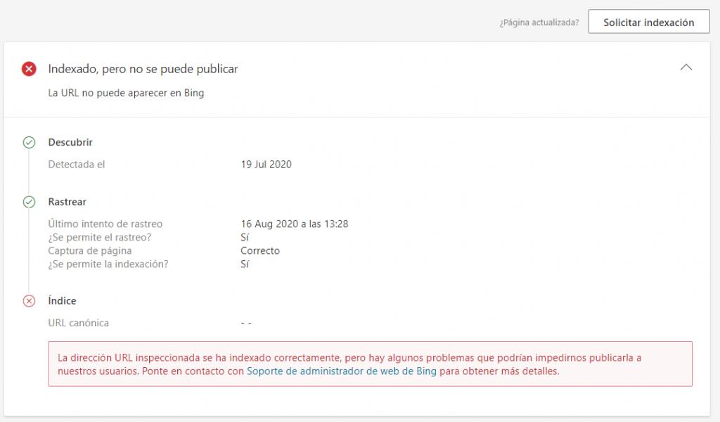 Bing Webmaster Tools Inspector Tool